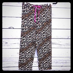 Betsey Johnson Animal Print Pajama Pants
